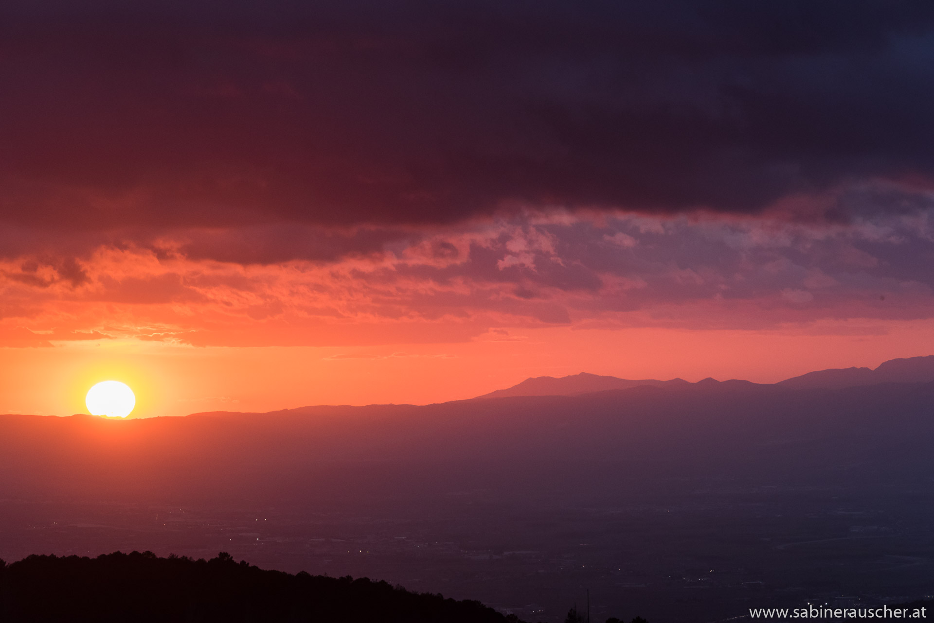 Sunset in Sierra Nevada   Sonnenuntergang in der Sierra Nevada