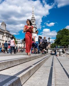 Trafalgar Square in London