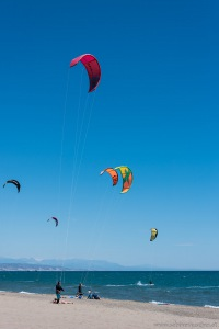 Torremolinos - the beach of Malaga | Kitesurfer in Torremolinos - Malagas Strand