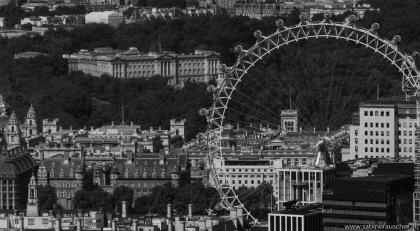 The View from The Shard in London | Buckingham Palace und London Eye gesehen von The Shard