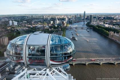 London Eye over the Thames | London Eye über der Themse
