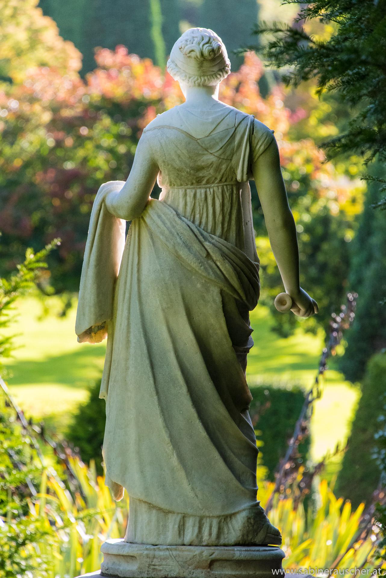 Statue in Drummond Castle Garden near Crieff, Scotland