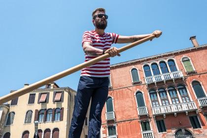 Venice - at board of a traghetto to cross the Canal Grande | Venedig - Übersetzen des Canal Grande mit dem Traghetto