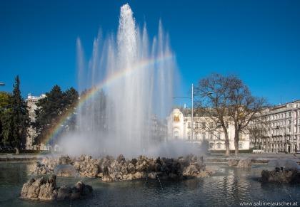 Fountain at Schwarzenbergplatz, Vienna | Hochstrahlbrunnen am Schwarzenbergplatz, Wien